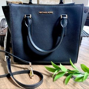 Michael Kors Alessa Medium Leather Satchel